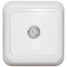 TV SOCKET MALE-WHITE-APOLLO