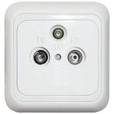 TV+SAT+FM( R) SOCKET-THROUGH-W...