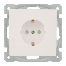 System 55 Shuko Power Socket-Face-White